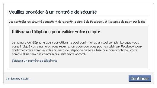 pourquoi facebook menvoie un code de confirmation