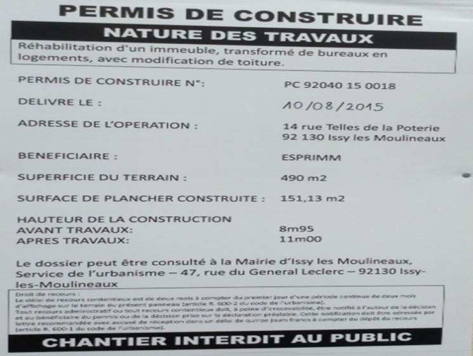 Modification permis g modification permis g modification for Modification d un permis de construire